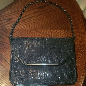 Stunning Ivanka Trump Black Sparkle Evening Bag